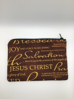 Christian Zipper Pouch