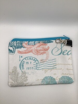 Seashells  Zipper  Pouch