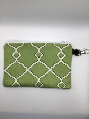 Lime Green Zipper  Pouch