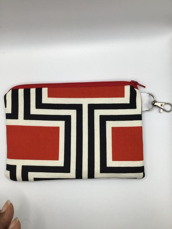 Black Stripes Zipper  Pouch