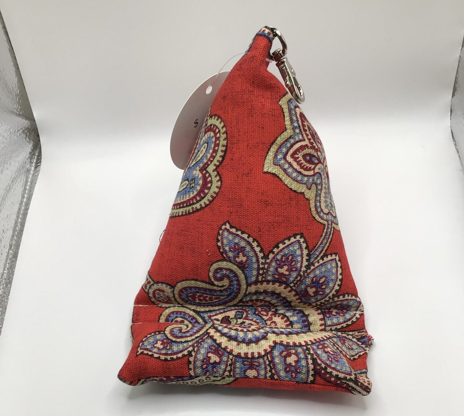 Red Paisley Cell Phone Pillow/Holder