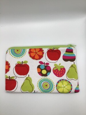 Asst Apple Zipper  Pouch