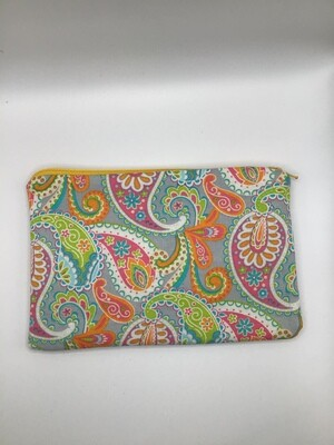 Colorfull Paisley Zipper  Pouch
