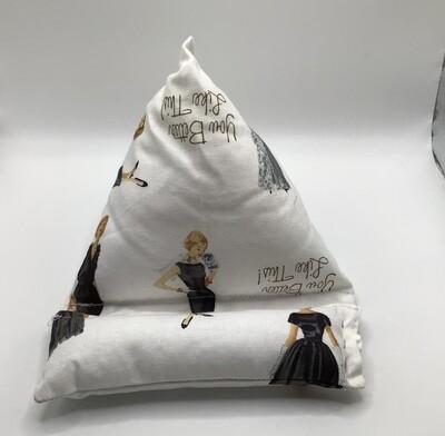 White vintage Cell Phone Pillow/Holder