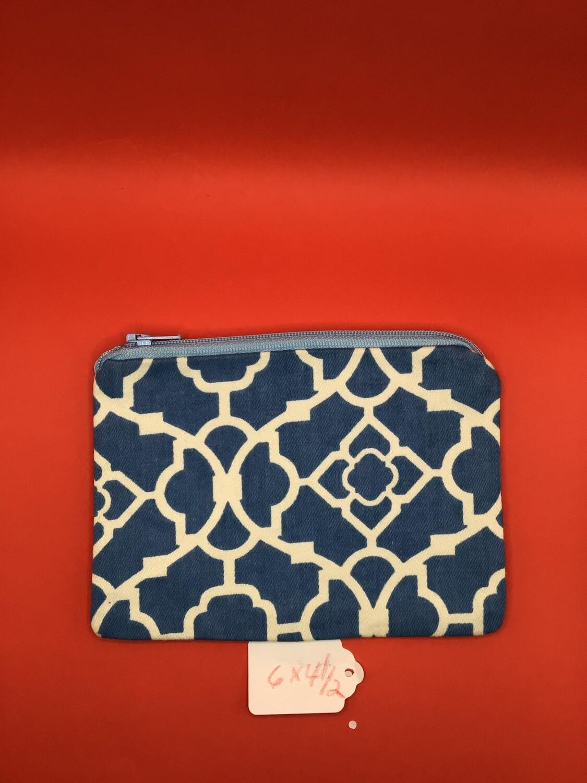 Blue zipper wallet