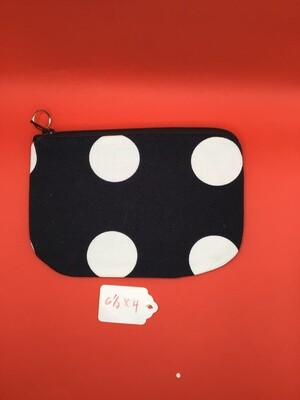 Black/White dots zipper wallet