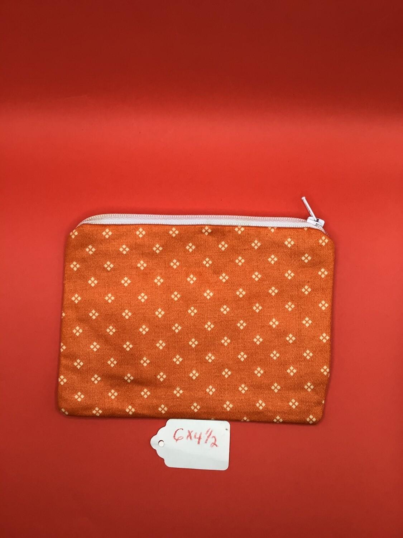 Orange  zipper wallet