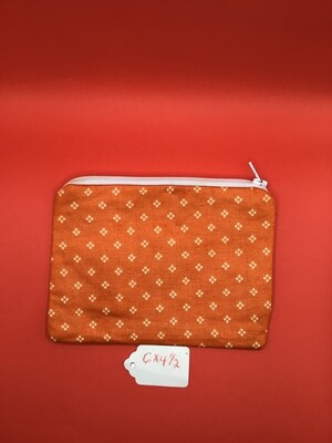 Orange  zipper wallet