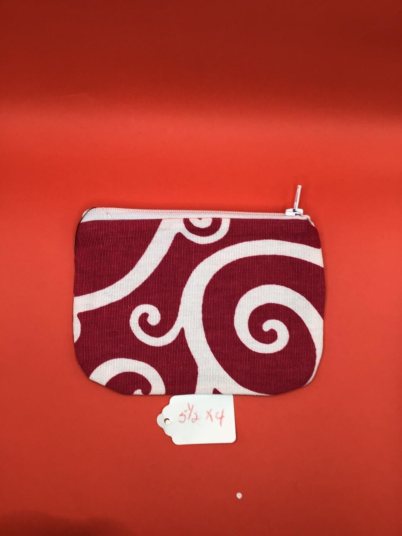 Pink/white zipper wallet