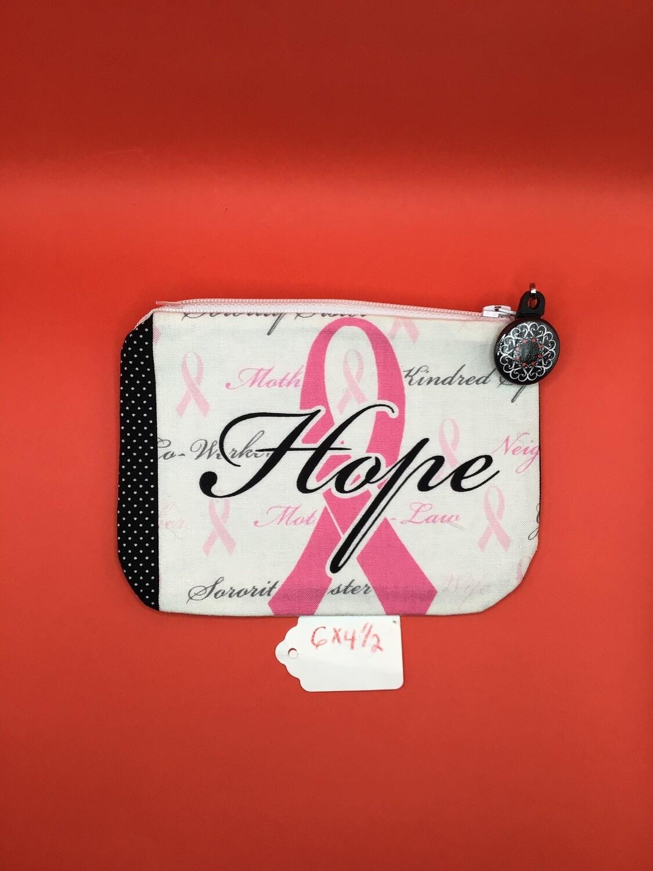 Pink Ribbons zipper wallet