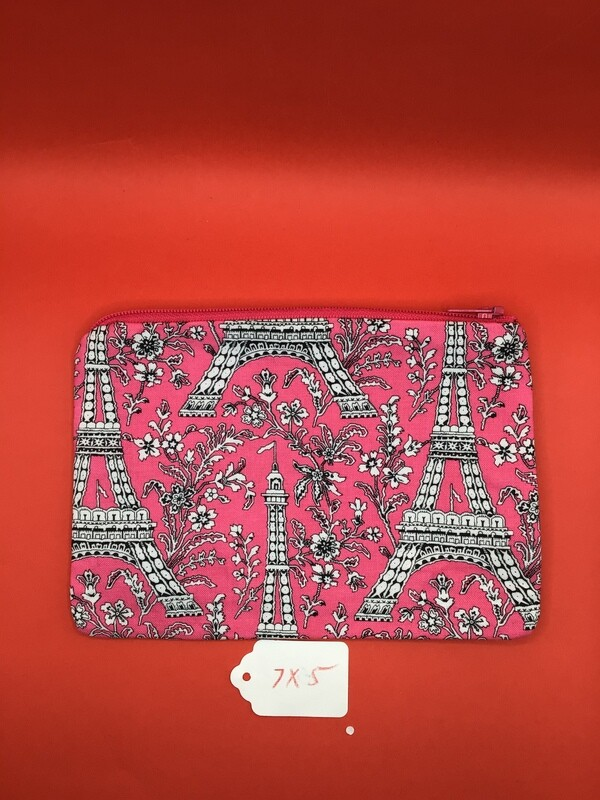 Pink Eiffel Tower zipper wallet