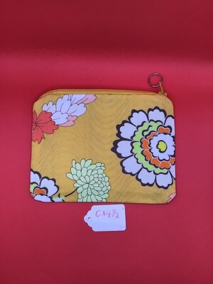 Yellow zipper wallet