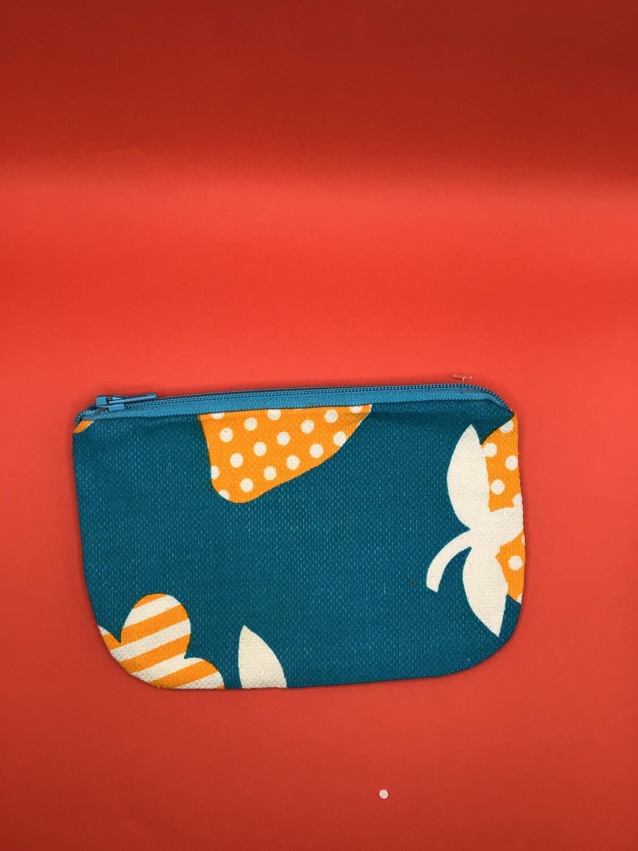 Orange Dots zipper wallet