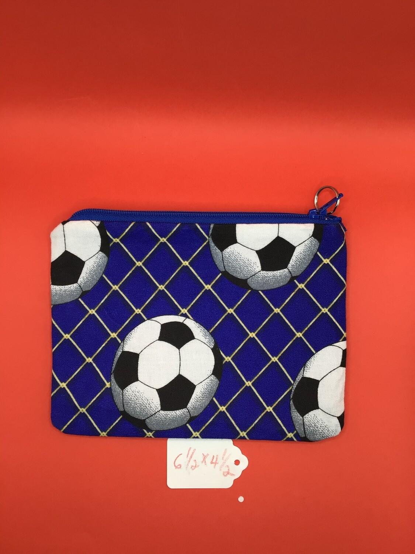 Soccer zipper wallet