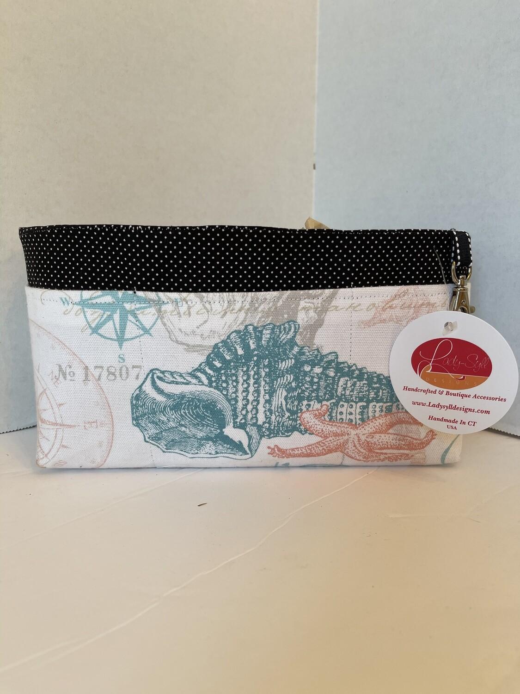Sea Shell large purse organizer