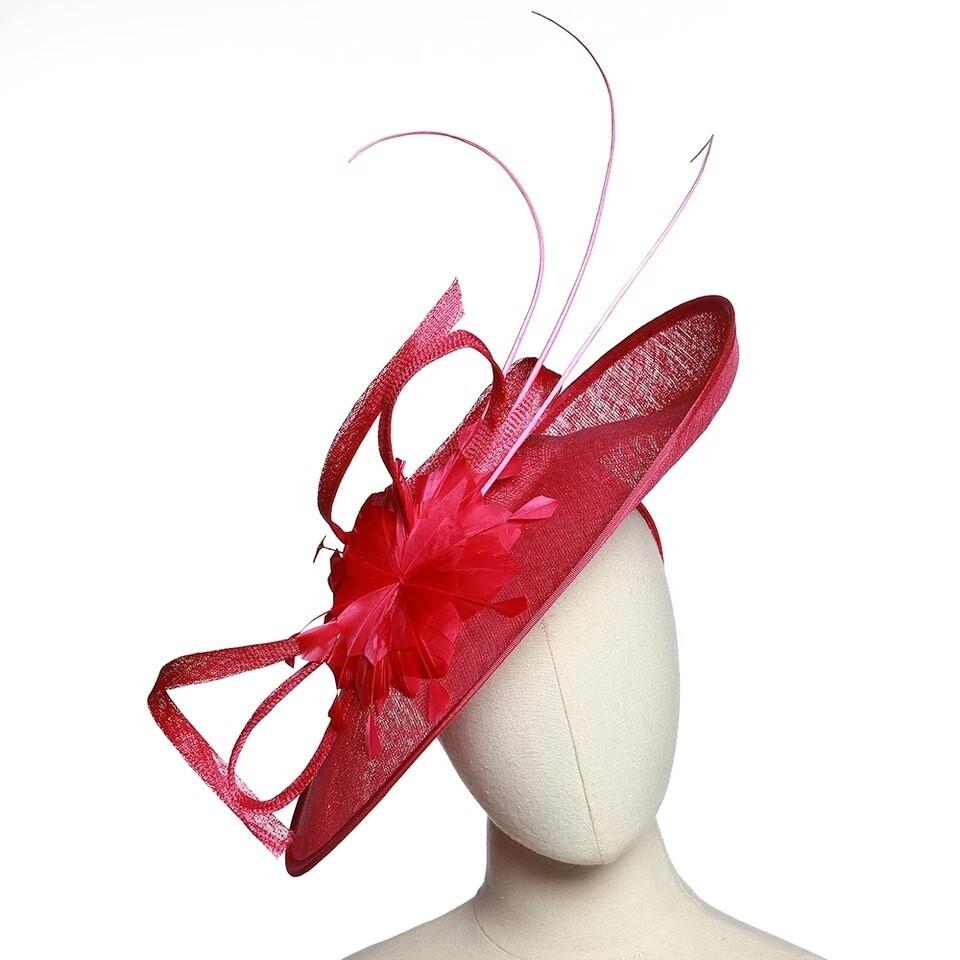 Fuschia Women fascinator hats