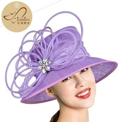 Fancy Lavender women fascinator hat