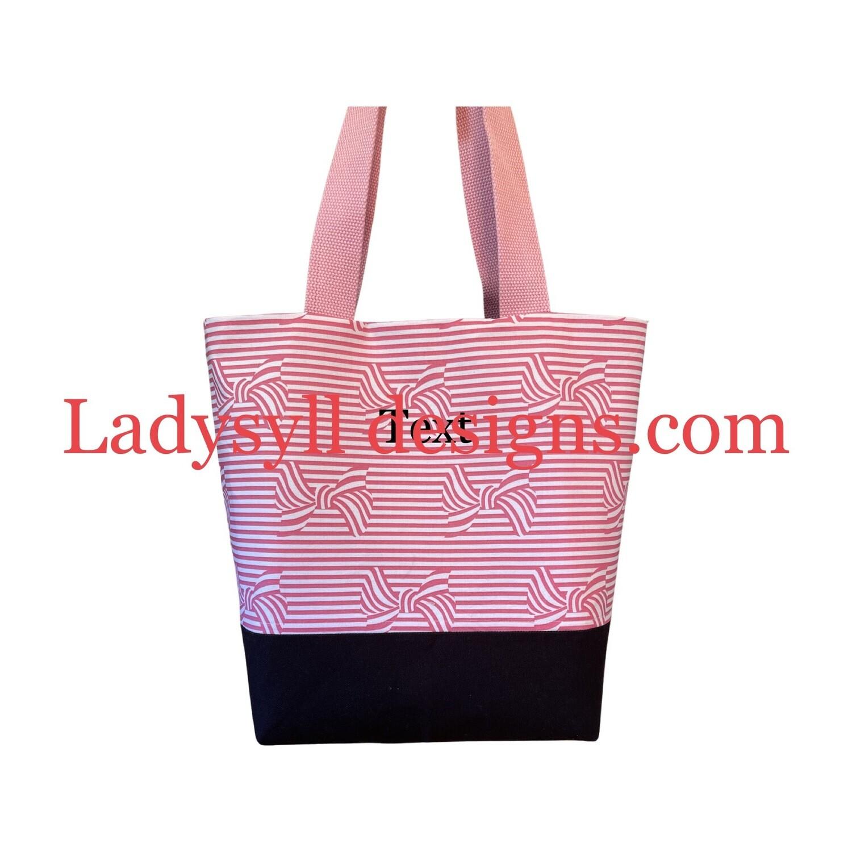 Seashore Bows /Stripe Pink