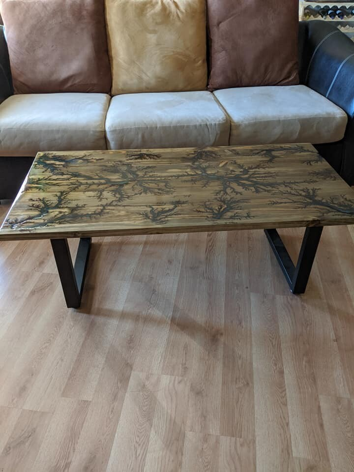 Seashell Gray Rivers - Electrocued 2 by 4 ft Coffee Table