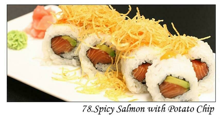 Spicy Salmon with Potato Chip
