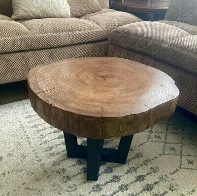 Live Edge Coffee Table, Liveedge with Maple Tree Slice