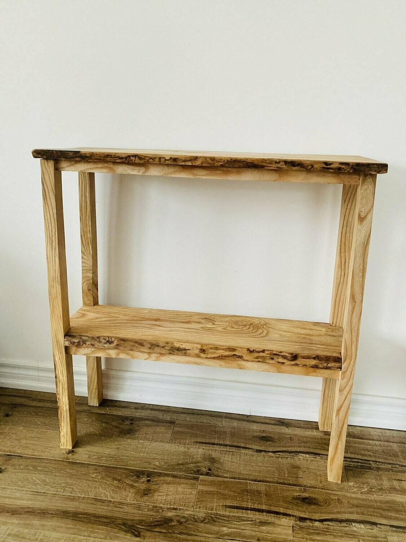 Live edge oak console table / sideboard