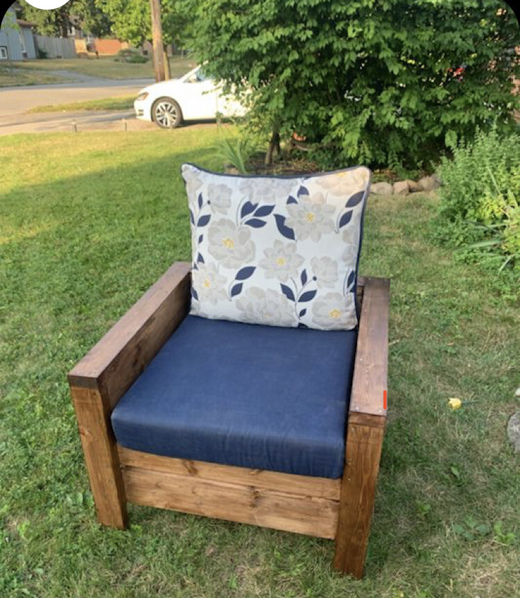 Solid wood patio chair - Made To Order