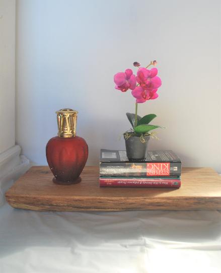 Floating Wall Shelf - live edge with oak wood
