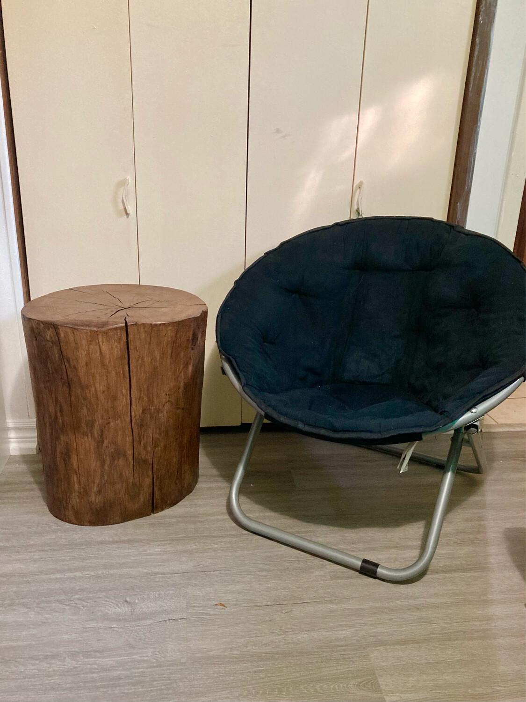 Rustic Maple Tree Stump Table