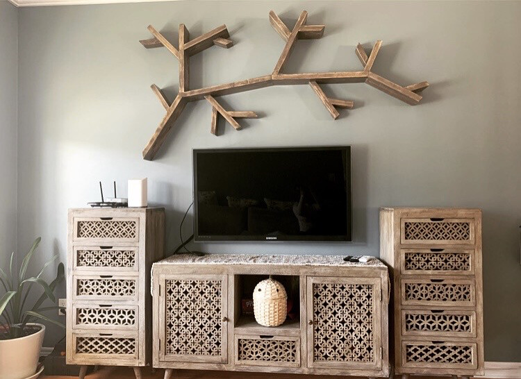 Tree Branch Wall Shelf