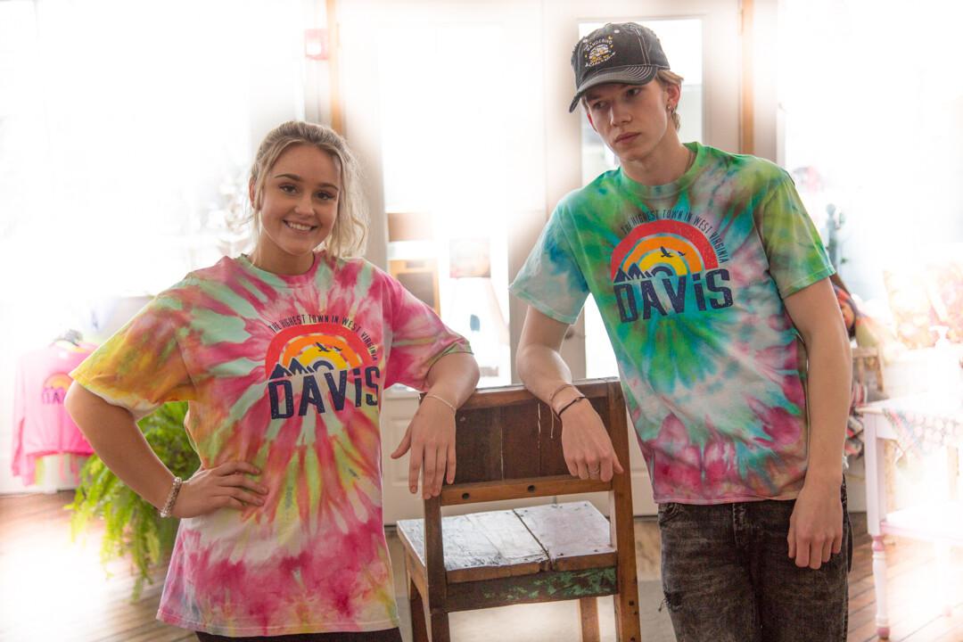 Davis Rainbow Tie Dye Tee