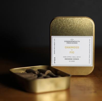 Oakmoss + Fig Incense Cones