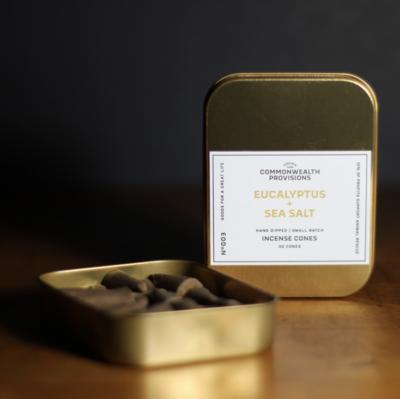 Eucalyptus + Sea Salt Incense Cones