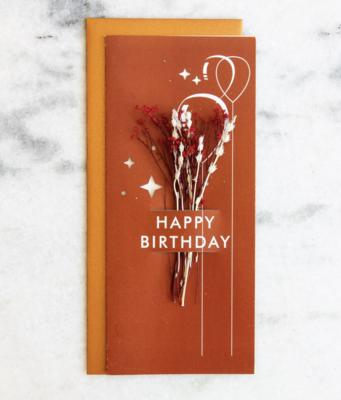 Happy Birthday Dried Flower Card