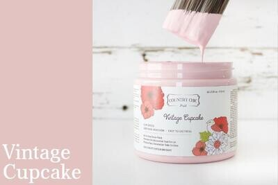 Country Chic Paint Pint (16 oz.) Vintage Cupcake
