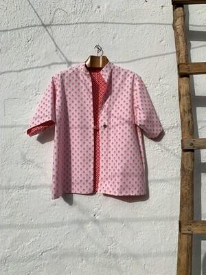 Blusa reversible roja/rosa