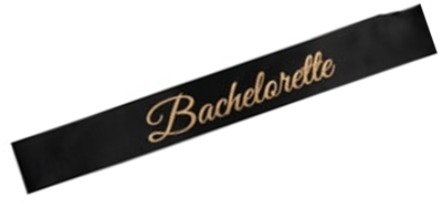 Bachelorette Sash (Black/Gold)