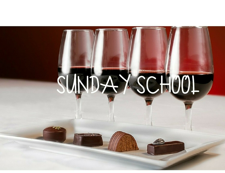 2/21 Sunday School Wine & Chocolate Pairing