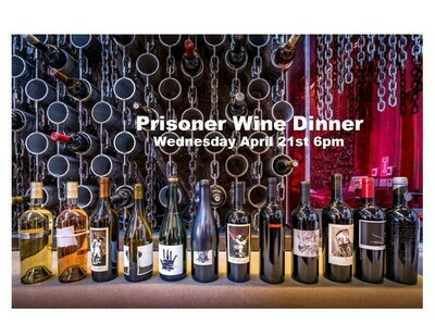 4/21 Prisoner 6 Course Wine Dinner