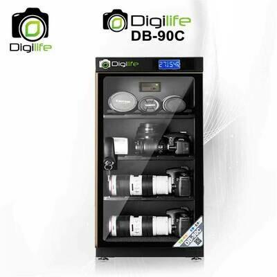 Dry Cabinet DB-90C ขอบทอง - ตู้กันชื้น 90L ลิตร - รับประกันร้าน 3ปี