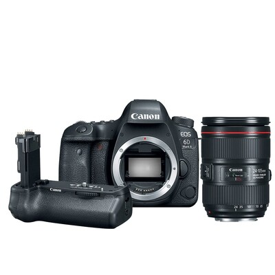 Canon Camera EOS 6D Mark2 Kit EF 24-105 mm.F4L IS II USM พร้อม Grip BG-E21 - รับประกันร้าน Digilife Thailand 1ปี
