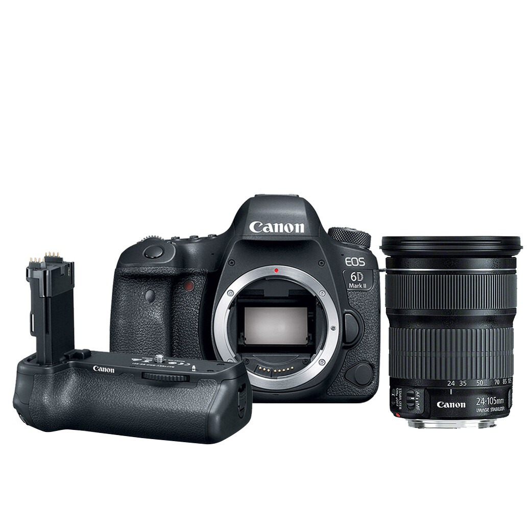 Canon Camera EOS 6D Mark2 Kit EF 24-105 mm.F3.5-5.6 IS STM *พร้อม Grip BG-E21 - รับประกันร้าน Digilife Thailand 1ปี