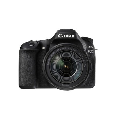 Canon Camera EOS 80D Kit 18-135 mm.IS STM , IS USM NANO - รับประกันร้าน Digilife Thailand 1ปี