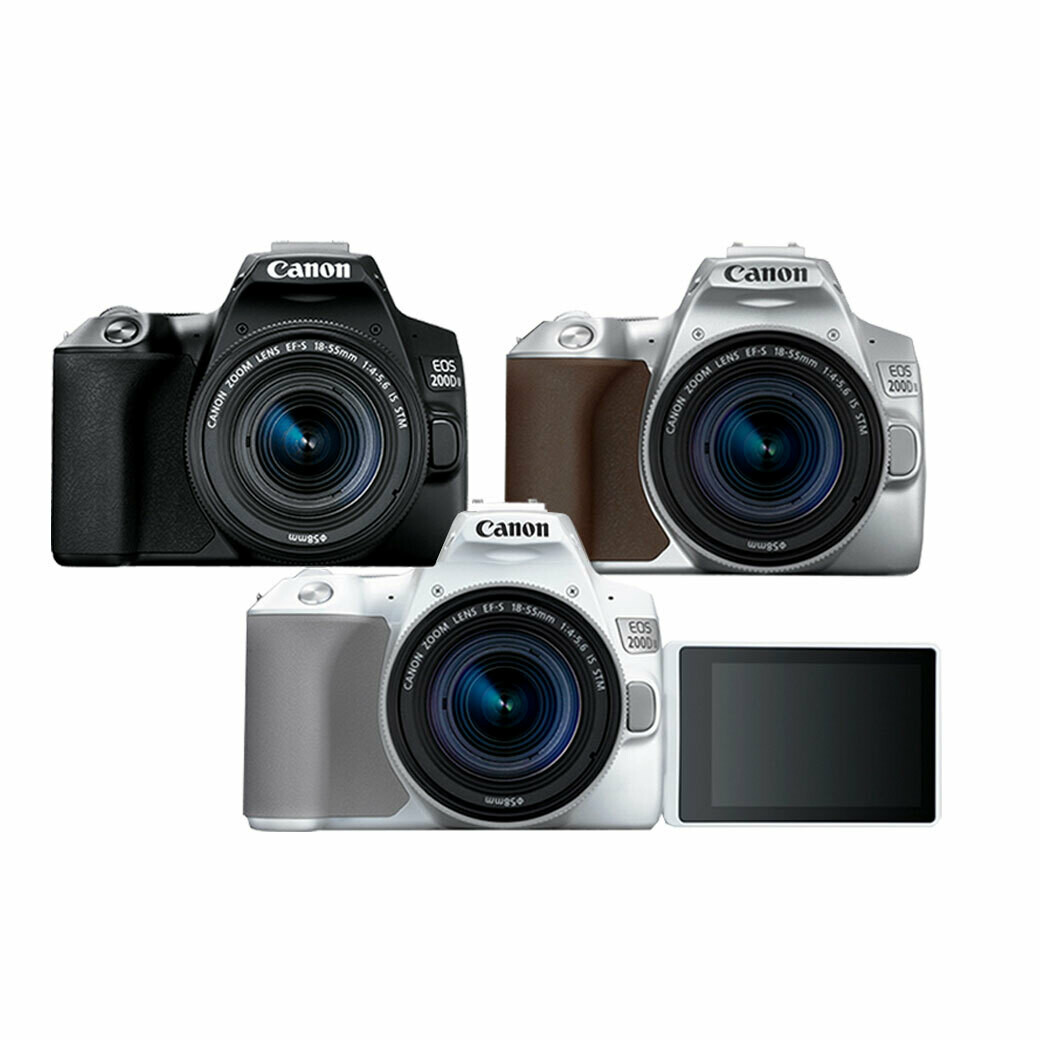 Canon Camera EOS 200D II Kit 18-55 mm.IS STM - รับประกันร้าน Digilife Thailand 1ปี