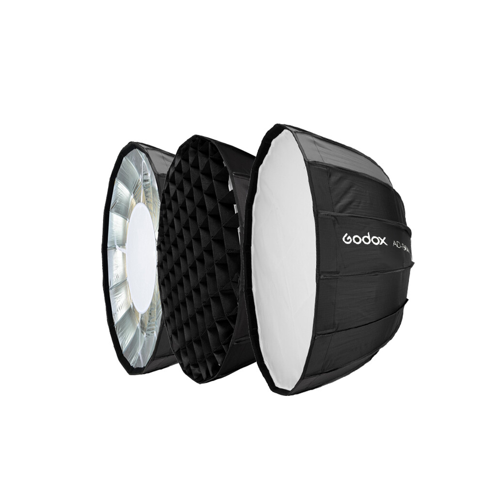 Godox AD-S65S Parabolic Softbox 65 cm. With Grid ( Godox Mount For AD300 Pro  AD400 Pro  ML60 )