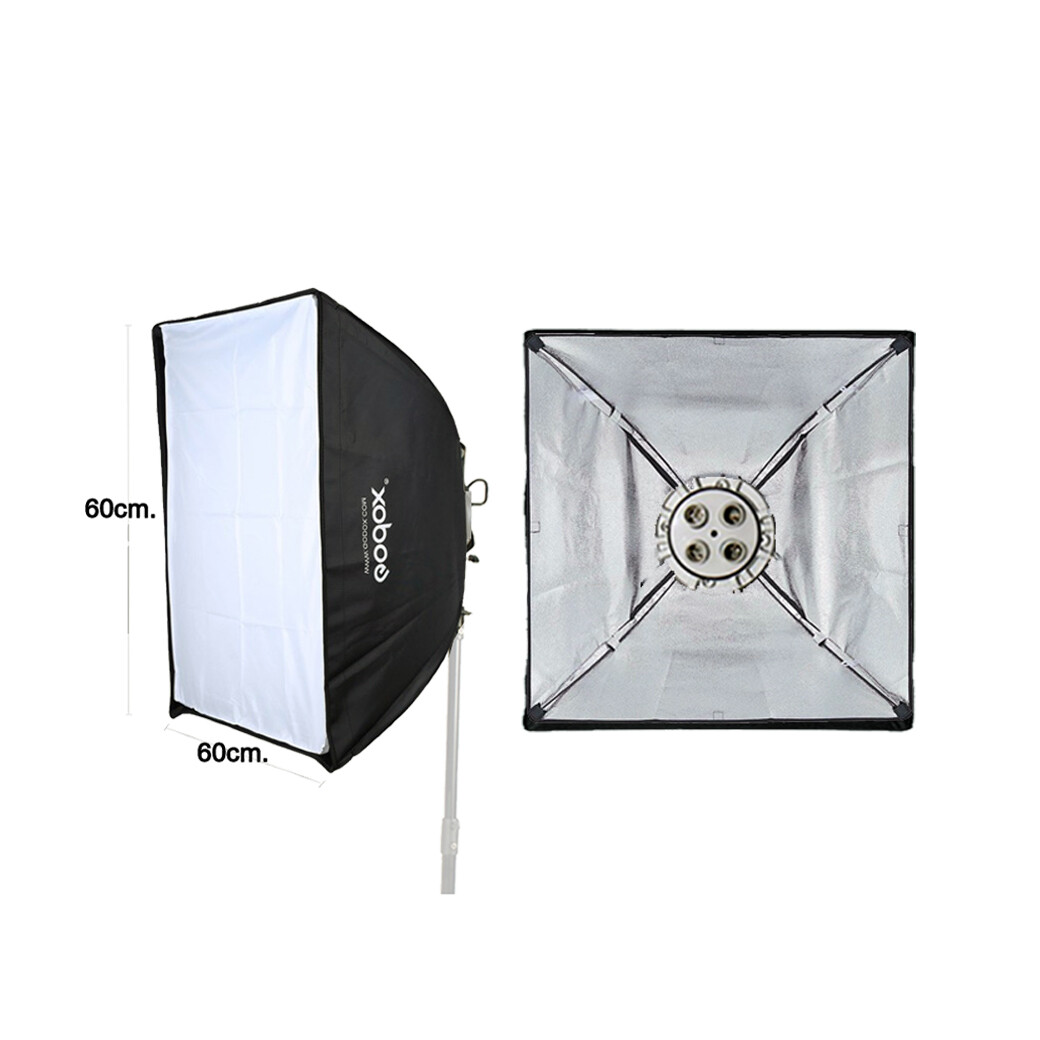 Godox TL-4 With Softbox 60*60 cm. ( สตูดิโอ , วิดีโอรีวิว , Live วิดีโอ , ถ่ายรูปติดบัตร )