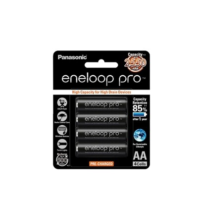 Panasonic Battery Eneloop Pro Recharge 4*AA 2500 mAh. (แบตชาร์จ AA / 1แพ๊ก4ก้อน) - รับประกันร้าน Digilife Thailand 3 เดือน