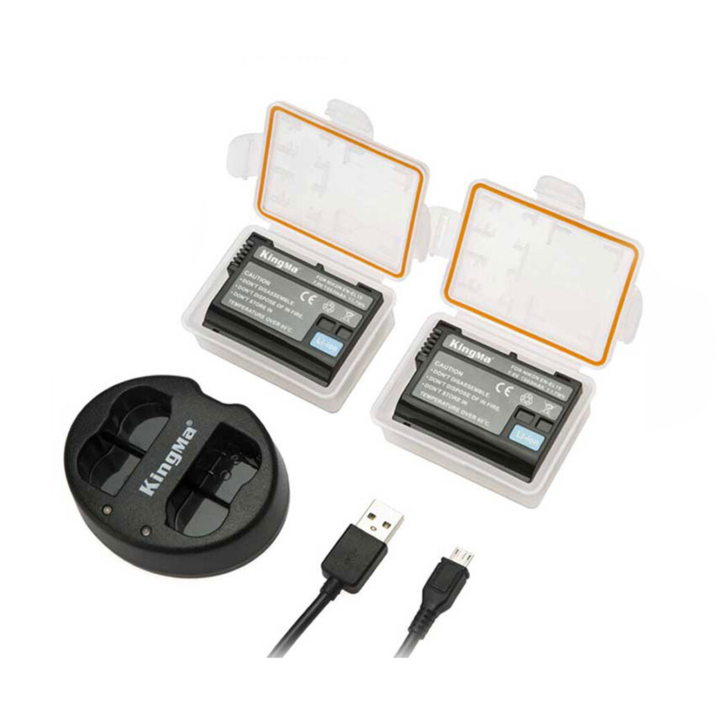 Kingma Battery & Charger Kit EN-EL15 For Nikon - รับประกันร้าน Digilife Thailand 3 เดือน