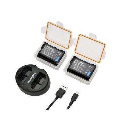 Kingma Battery & Charger Kit NP-FW50 For Sony ( แบตเตอร๊่ 2ก้อน+ชาร์จเจอร์แบบคู่ ) - รับประกันร้าน Digilife Thailand 3 เดือน