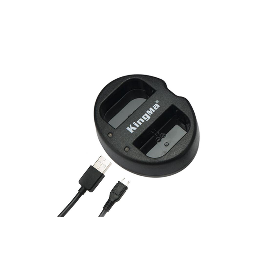 Kingma Charger LP-E6 - USB Dual Charger / For Canon 5D  6D  7D  80D  90D